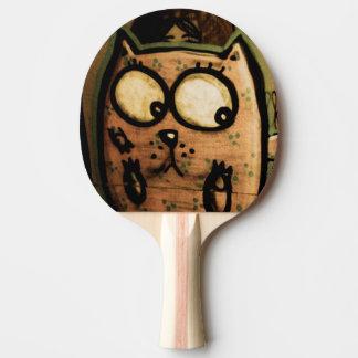 Street Art Cat Ping Pong Paddle