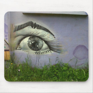 Street art crying eye mouse pad