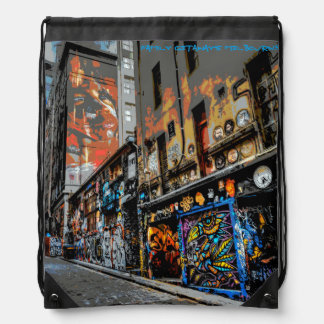 Street Art Drawstring Backpack