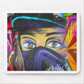 Street art Face Mouse Pad