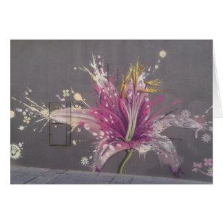 Street art flower in Almeria, Spain Card