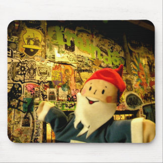 Street Art Gnome Mouse Pads