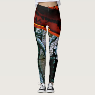Street Art Graffiti in Montreal Leggings