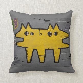 Street art / grafitti throw pillow