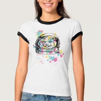 Street Art Inspired Cat Spaceman Design T-Shirt
