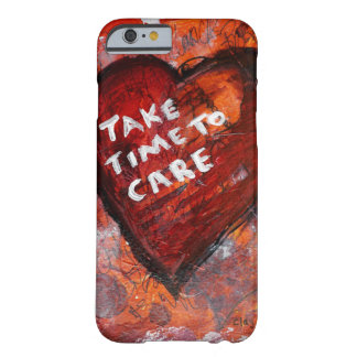 Street Art Inspired Mixed Media Heart Barely There iPhone 6 Case