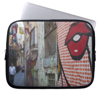 Street art on Calle de la Libertad street Laptop Sleeve