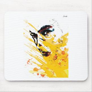 street art painting yellow mousepad