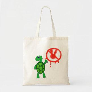 Street Art Turtle Graffiti Tote Bag