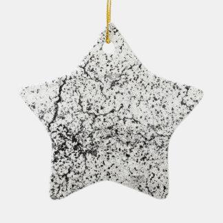 Street asphalt cracks texture ceramic star decoration