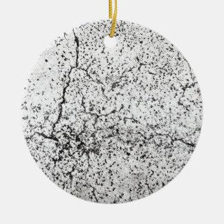 Street asphalt cracks texture christmas ornament