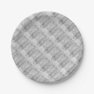 Street asphalt cracks texture paper plate