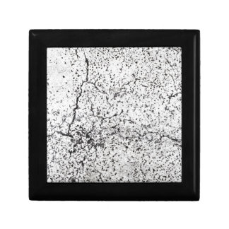 Street asphalt cracks texture small square gift box