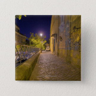 Street at night in Rome, Italy 2 15 Cm Square Badge
