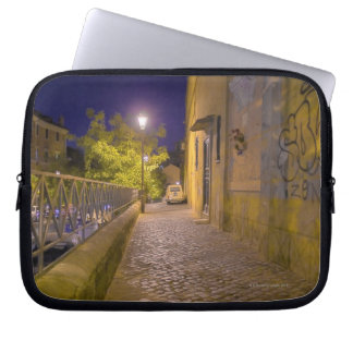 Street at night in Rome, Italy 2 Laptop Sleeves
