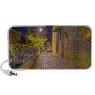 Street at night in Rome Italy 2 Portable Speaker