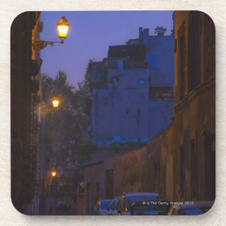 Street at night in Rome, Italy Coaster