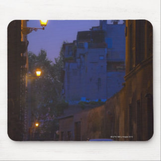 Street at night in Rome, Italy Mouse Mat