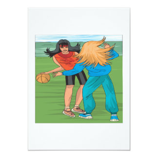 Street Ball 13 Cm X 18 Cm Invitation Card