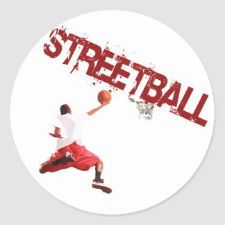 Street Basketball Dunk Sticker