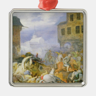 Street Battle in the Malostranske Namesti Christmas Ornament