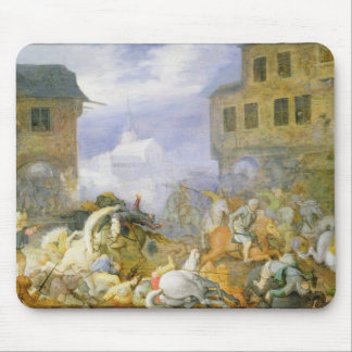 Street Battle in the Malostranske Namesti Mouse Mat