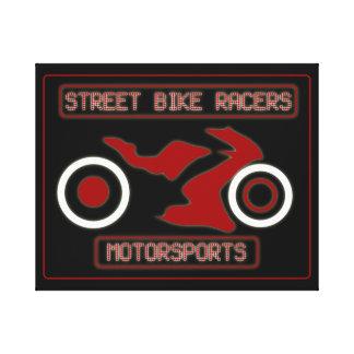 STREET BIKE RACERS CANVAS PRINT