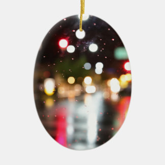 Street Bokeh Christmas Ornament