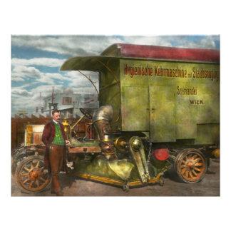 Street Cleaner - The hygiene machine 1910 21.5 Cm X 28 Cm Flyer