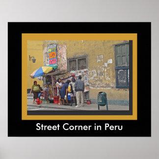 Street Corner in Peru Poster
