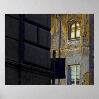 Street corner in Rome, Italy Poster