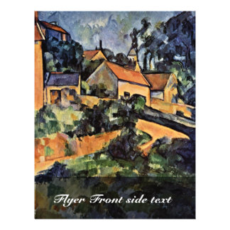 Street Curve In Montgeroult By Paul Cézanne Full Color Flyer