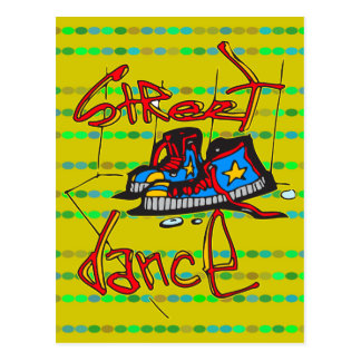Street Dance and Shoes Postcard