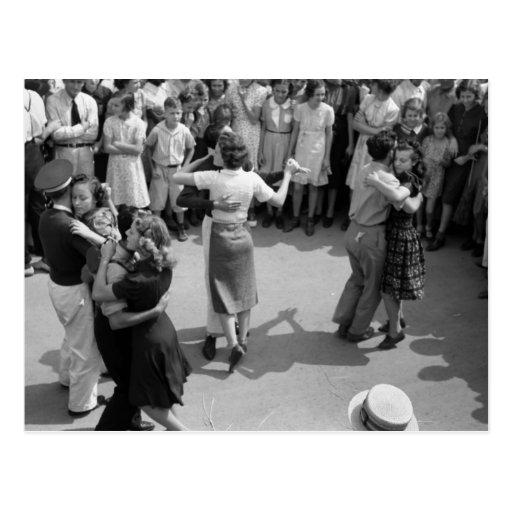 Street Dance, Crowley, Louisiana, 1930s Post Card