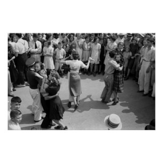 Street Dance, Crowley, Louisiana, 1930s Poster