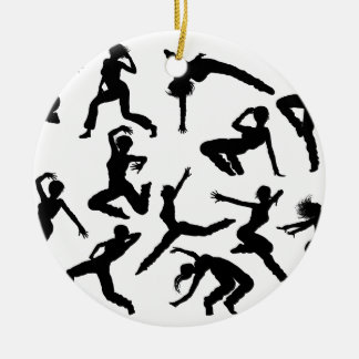 Street Dance Dancer Silhouettes Christmas Ornament