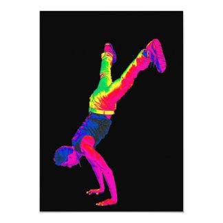 Street Dancing - Multi-Colour, Black Back Card