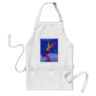 Street Dancing, Rainbow Coloured, Blue Back Standard Apron
