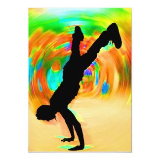 Street Dancing, Silhouette, Green/Orange/Yellows Announcement