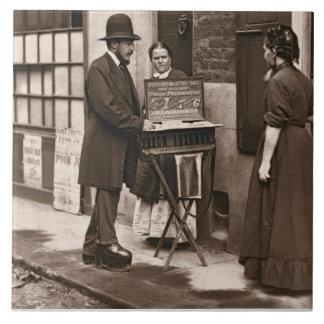 Street Doctor, 1876-77 (woodburytype) Large Square Tile