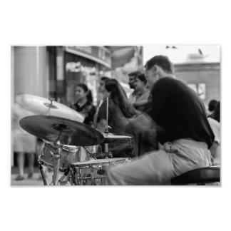 Street Drummer Photo Print