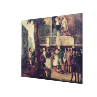Street Fair Gallery Wrapped Canvas