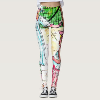 Street Games In The City - Hop Scotch Leggings