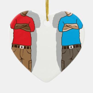 Street gangsters ceramic heart decoration