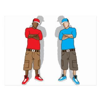 Street gangsters postcard
