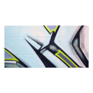 Street Graffiti Arrows Customized Photo Card