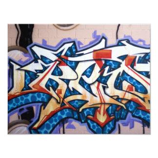 Street Graffiti Art 11 Cm X 14 Cm Invitation Card