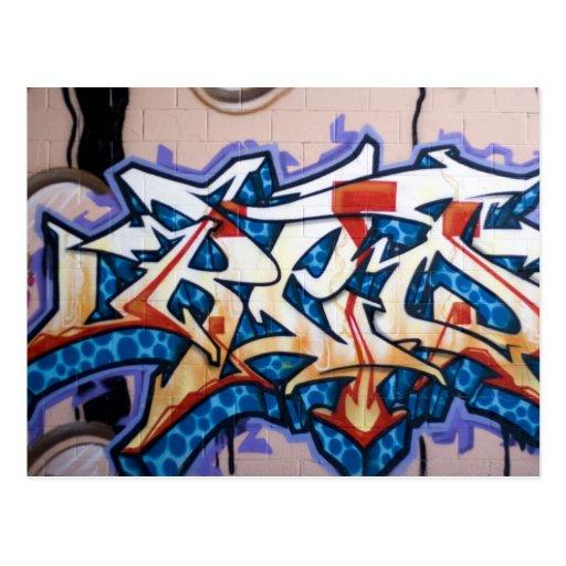 Street Graffiti Art Post Cards