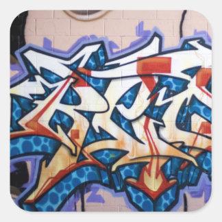 Street Graffiti Art Square Sticker
