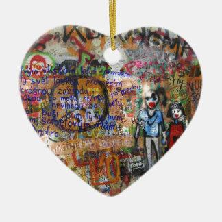 Street Graffiti Artwork Ceramic Heart Decoration